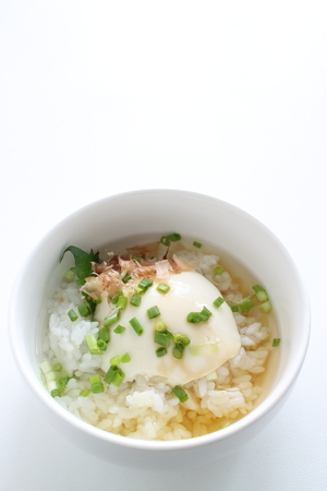 Katsuobushi and tofu soup rice