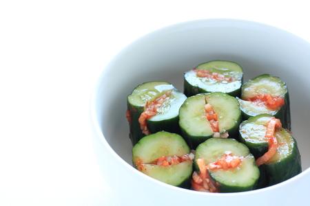Cucumber kimchi, Korean food