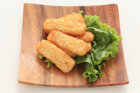 Hash brown and lettuce