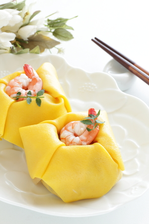Shrimp sushi, Japanese food