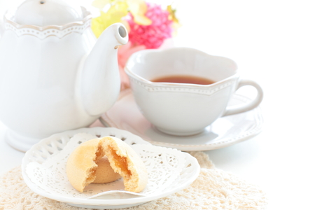 Mango filling cooking served with English tea