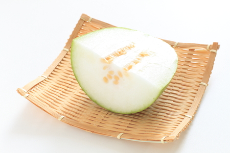 Chinese vegetable, winter melon Benincasa hispida 版權商用圖片