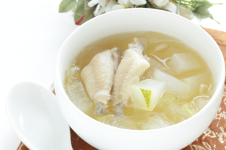 chicken and winter melon for Chinese soup image Stock fotó