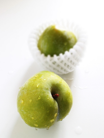 Freshness green plum from Japan Stock Photo