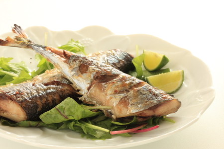 Pacific saury and Japanese Lime sudachi