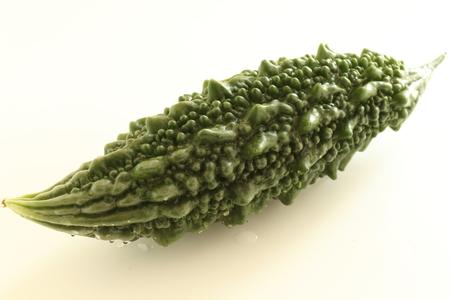 Japanese bitter melon on white