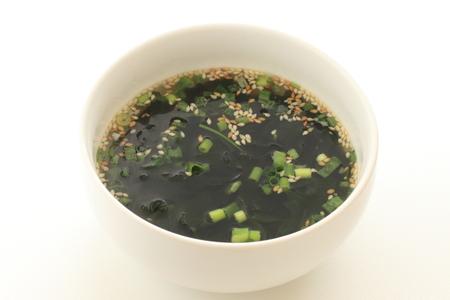korean wakame soup 免版税图像