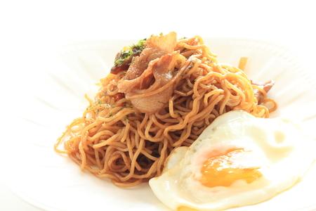 Japanese food, pork fried noodles Stockfoto - 119749191
