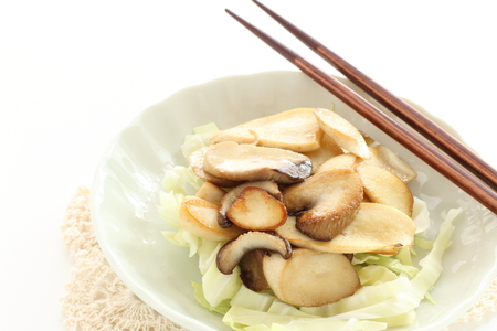 Japanese oyster mushroom sauteed 版權商用圖片