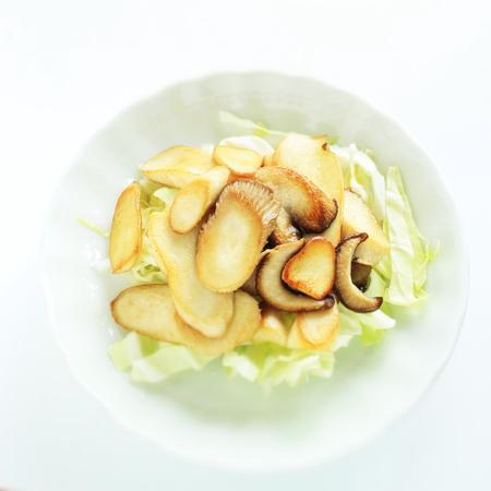 Japanese oyster mushroom stir fried