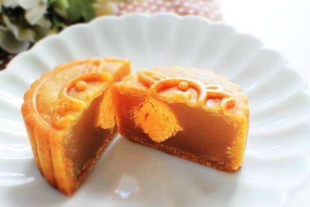 Chinese food festival, mooncake Stock Photo