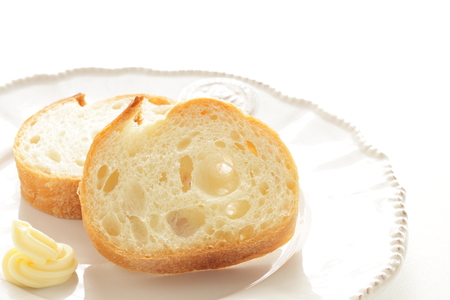 French bread and butter Reklamní fotografie