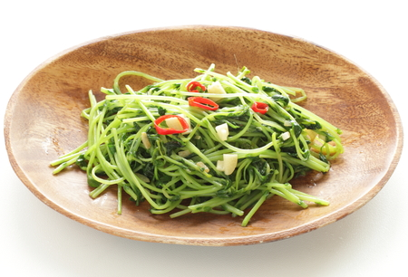 Chinese vegetable and soy sprout and garlic stir fried Stockfoto - 117452719