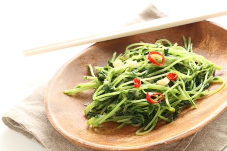Chinese vegetable and soy sprout and garlic stir fried Stockfoto - 117452715
