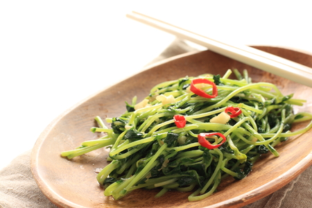 Chinese vegetable and soy sprout and garlic stir fried