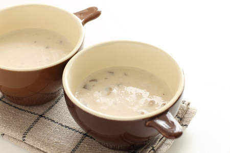 Cream mushroom soup 版權商用圖片