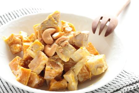 Pumpkin and nut mayonnaise salad Reklamní fotografie - 117077763
