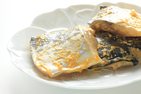 Japanese food ingredient and miso marinated mackerel