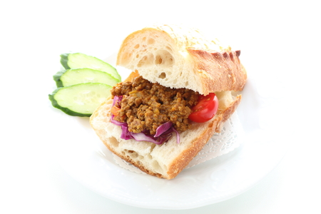 France bread and Keema curry sandwich
