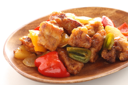 Chinese food, sweet and sour pork ribs 版權商用圖片 - 117078190