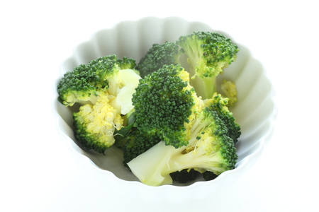 Chopped boccoli on bowl for healthy food image image
