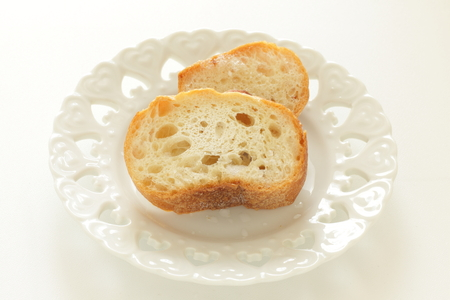 Toasted french bread on dish Stock fotó