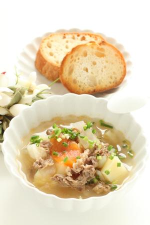 Italian Food, Beef minestrone soup
