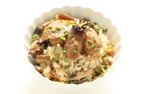 Smoked oyster mixed rice for Japanese Stock fotó