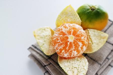 Japanese Mikan Orange for autumn fruit image Stok Fotoğraf