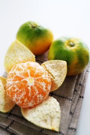 Japanese Mikan Orange for autumn fruit image Stockfoto