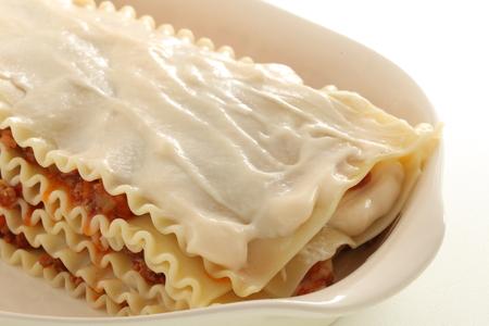 Lasagna flat paste for Italian food image