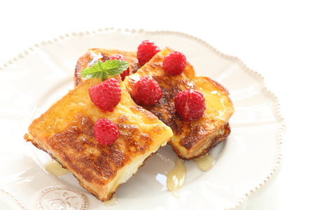 Raspberry and honey bread 写真素材