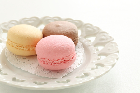 Colorful macaroon French confectionery image Stock fotó