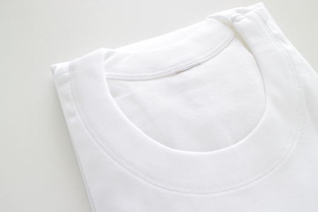 White cotton T-shirt for Mens wear image 스톡 콘텐츠