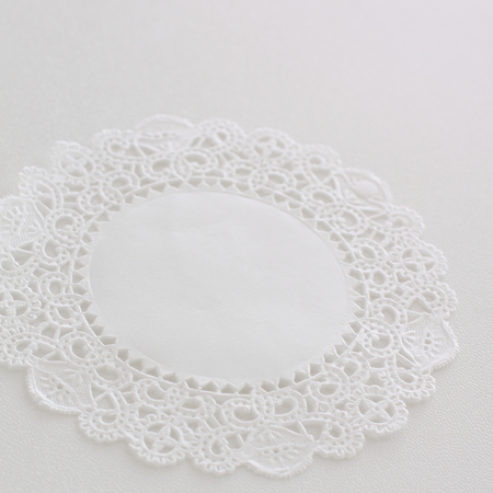 Lace paper on white