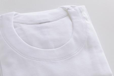 White cotton under shirt Standard-Bild - 121745425