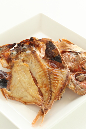 Japanese food, grilled half dried horse mackerel