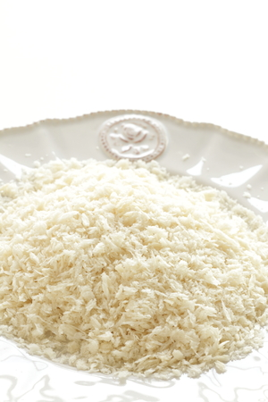 Japanese pearl rice on dish