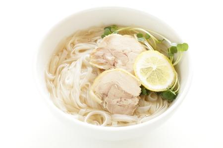 Vietnamese food, chicken rice noodles Stock Photo