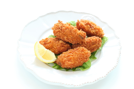 Japanese food, deep fried oyster 版權商用圖片 - 125111060