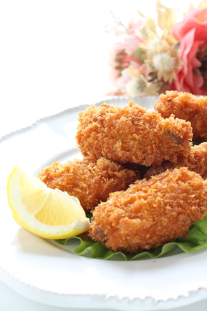 Japanese food, deep fried oyster 版權商用圖片 - 125111064