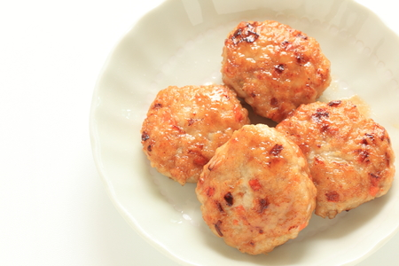 Homemade chicken patty for Chinese food image
