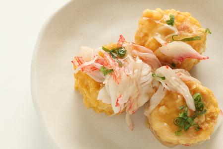 Chinese food, crab and tofu 版權商用圖片