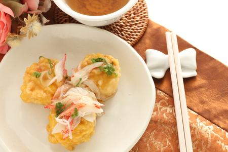 Chinese food, crab and tofu Stock Photo