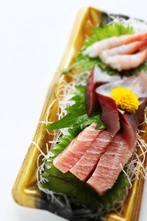 Japanese gourmet, raw food Sashimi Toro and shrimp