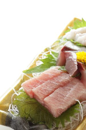 Japanese gourmet, raw food Sashimi 版權商用圖片