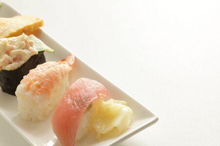 Japanese food, assort sushi on dish