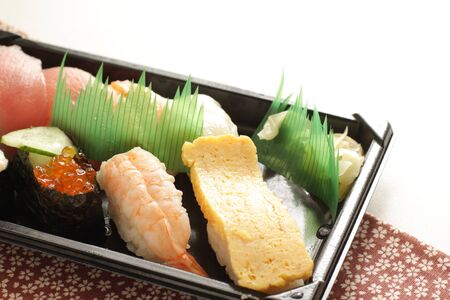 Japanese food, assorted sushi lunch box