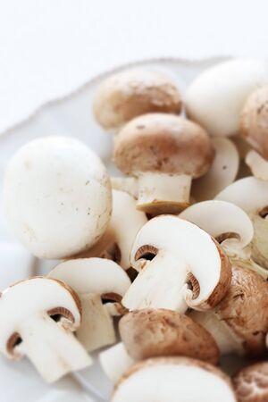 chopped mushroom on dish for ingredient Stok Fotoğraf - 127617699