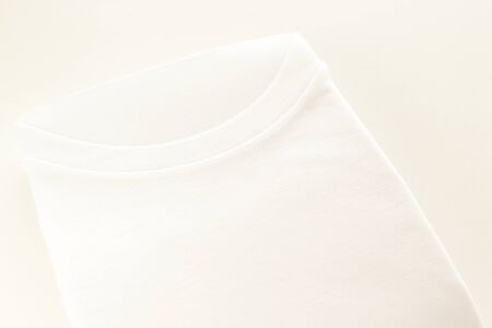 White t-shirt for mens underwear Stock Photo